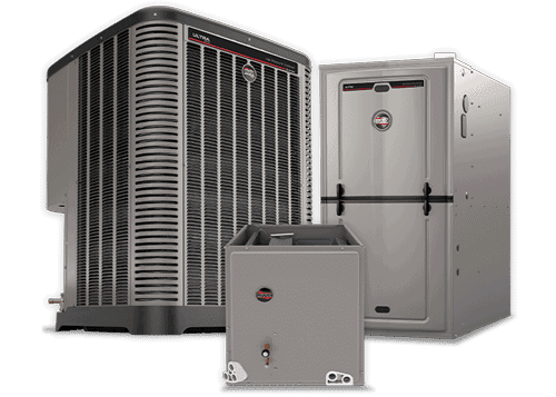 This is an image of a Ruud central air system with a furnace