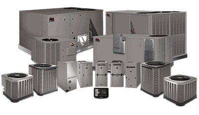 This is an image of Ruud's full line of Residential Products