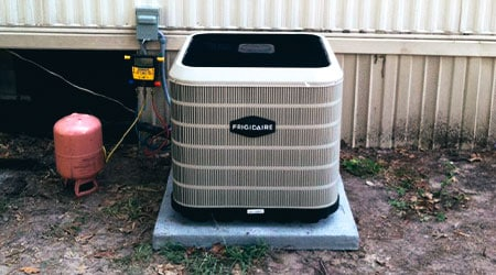 Take that old broken down air conditioning unit, and replace it with a new system like the one in this picture.