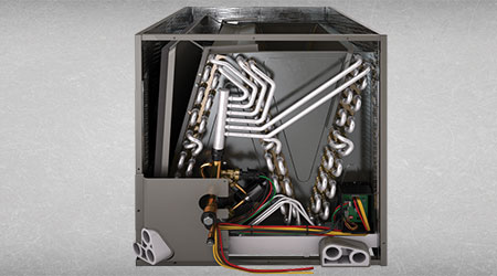 This is a picture of an evaporator coil