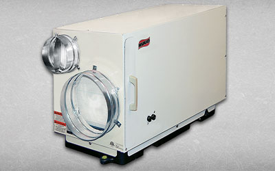 This is an image of a Ruud Dehumidifier