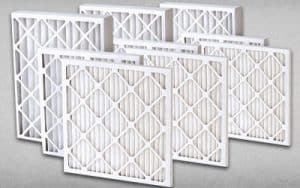 This image shows a set of mechanical air filters