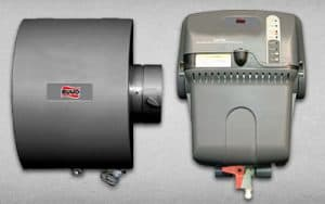 This is an image of a steam and bypass humidifier made by Ruud, Delta T sells& installs these systems for their clients