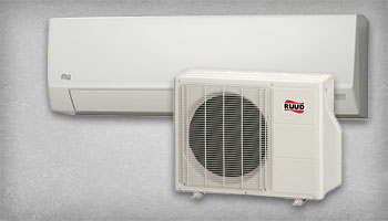 This is a picture of a multi-zone mini split system with an indoor wall mounted condenser