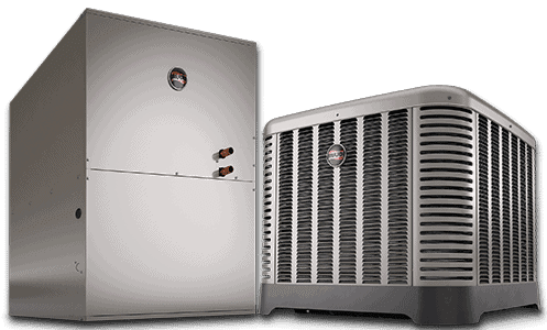 This is an image of the Ruud Achiever series air conditioner and it's air handler
