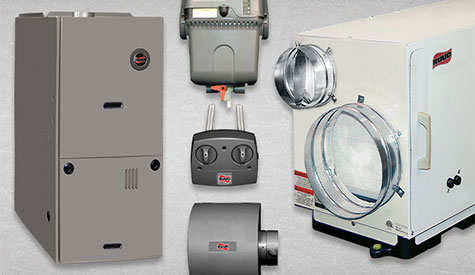 This is an image of Ruud's entire A/C product Line.