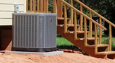 This is a picture of a brand new air conditioner install