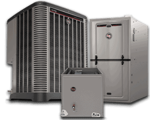 This is an image of a Ruud 90's series gas furnace